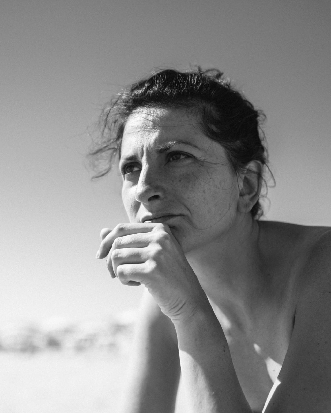 Gabri portrait, she is facing the sea